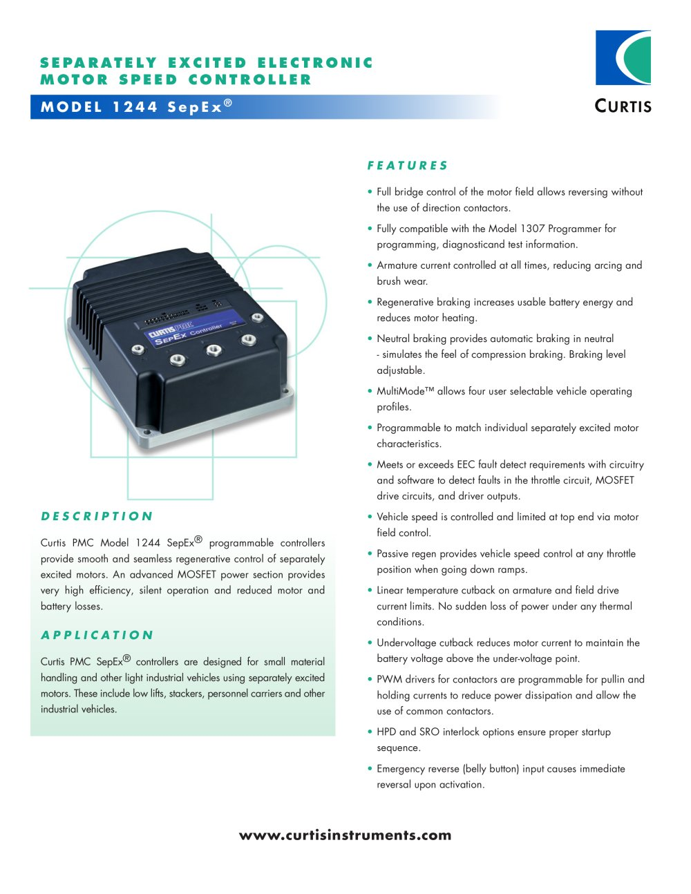 MODEL 1244 SepEx® - Curtis Instruments - PDF Catalogue | Technical ...