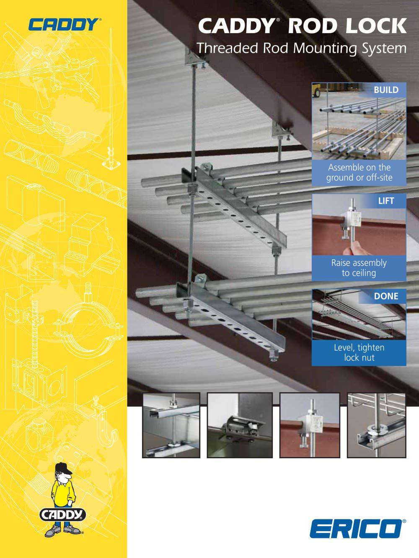caddy ® rod lock threaded rod mounting system - erico - pdf