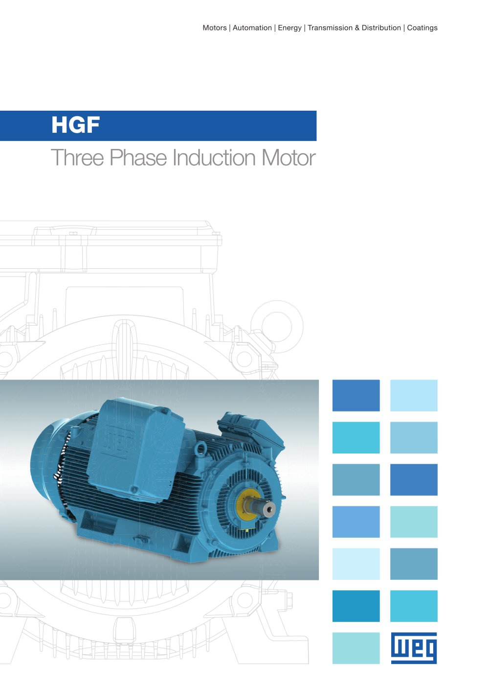 HGF - Three Phase Induction Motor - WEG - PDF Catalogue | Technical ...