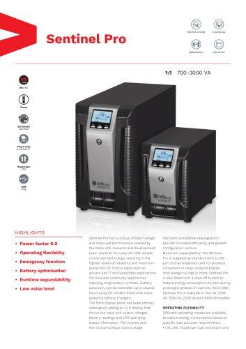 Sentinel Pro - RIELLO UPS - PDF Catalogs | Technical