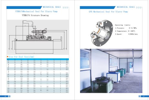 Yitong mechanical seal for slurry pump in papermaking