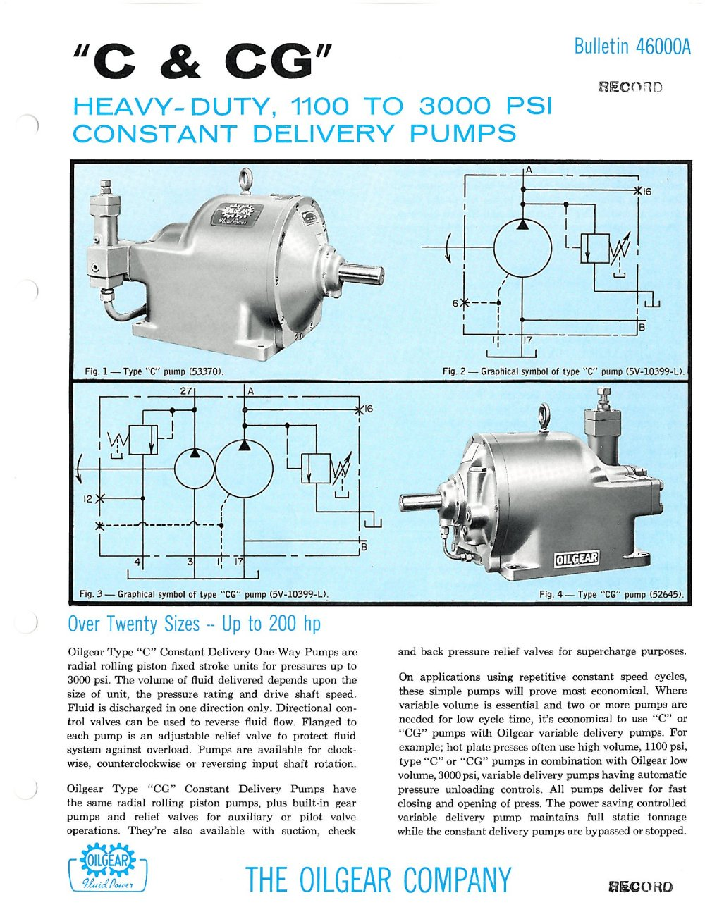 C Pumps Oilgear Pdf Catalogue Technical Documentation Brochure