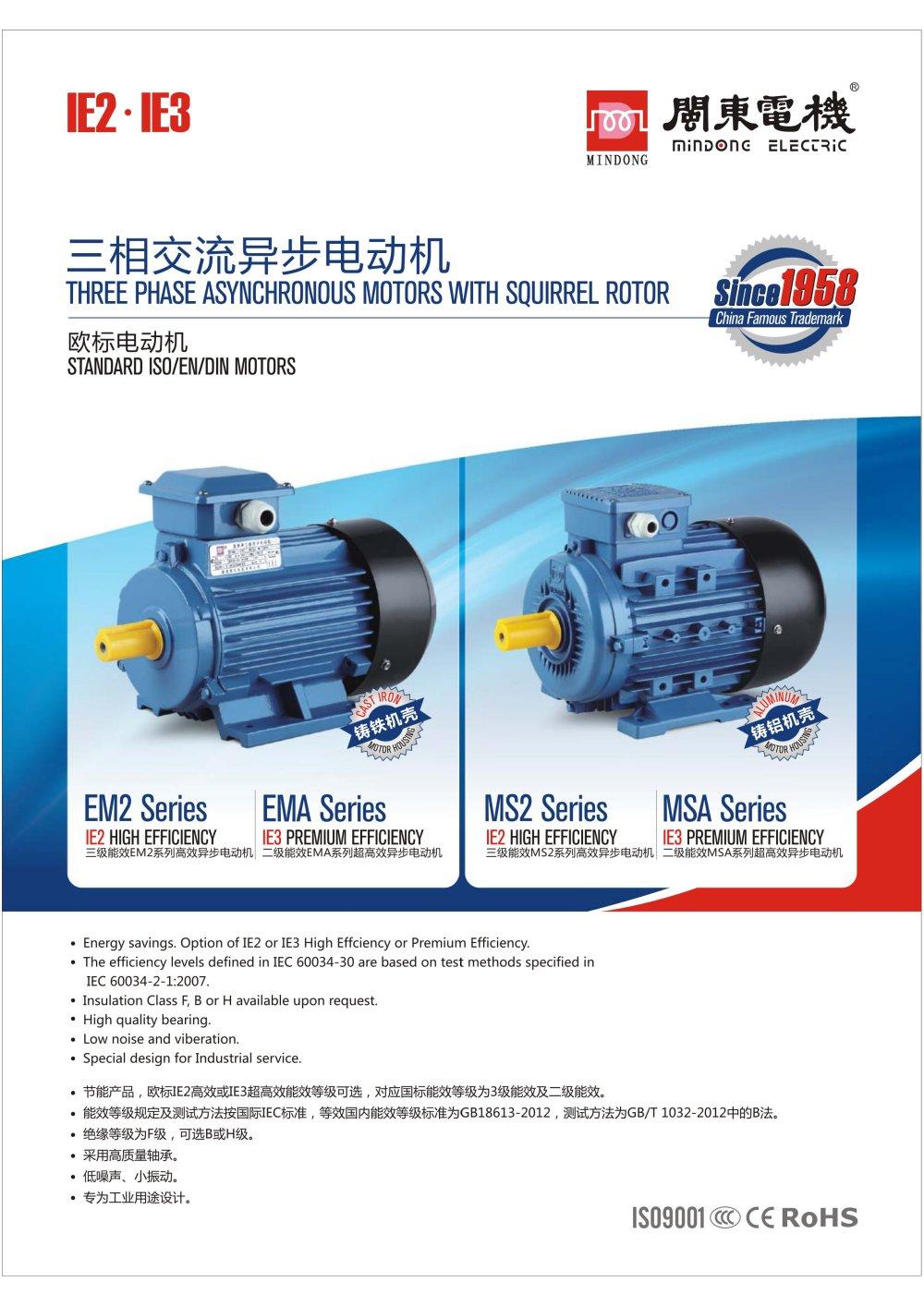 IE2/IE3 Electric Motor - Fujian Mindong Electric Co., Ltd. - PDF ...