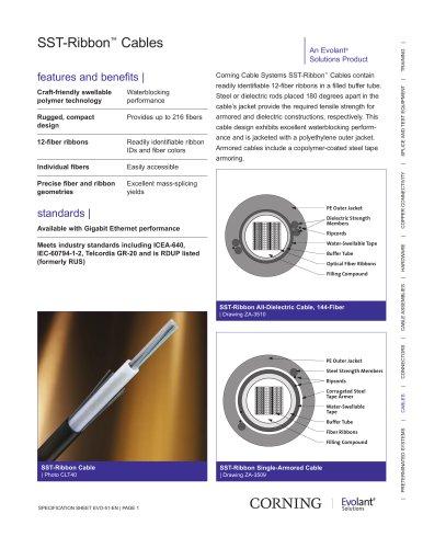SST-Ribbon? Cables - CORNING - PDF Catalogs | Technical