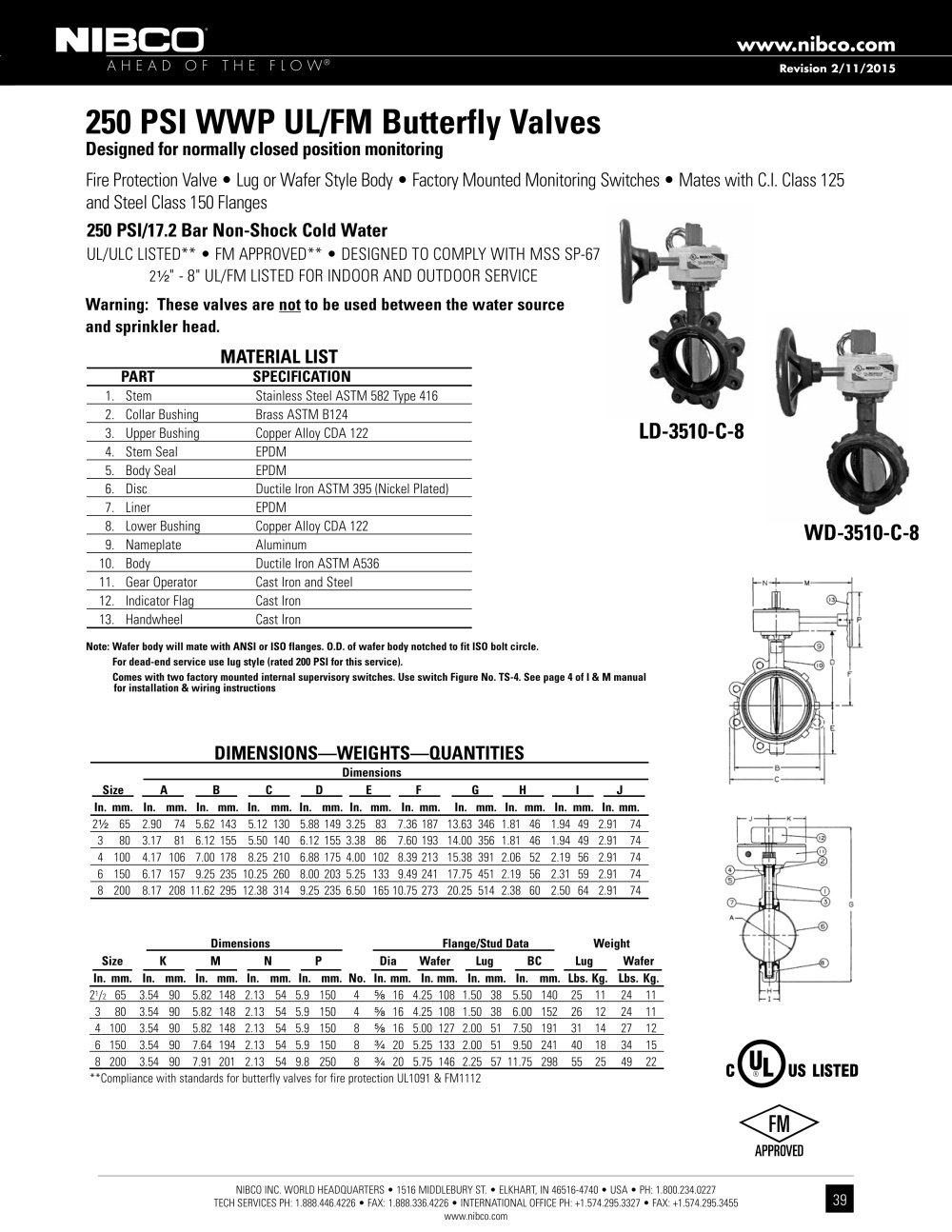 catalogue   fire protection valve catalog   nibco    version jpg    page 39