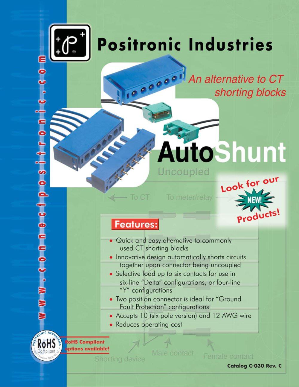 autoshunt brochure positronic industries pdf catalogue autoshunt brochure 1 13 pages