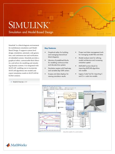 Simulink - The MathWorks - PDF Catalogs | Technical Documentation