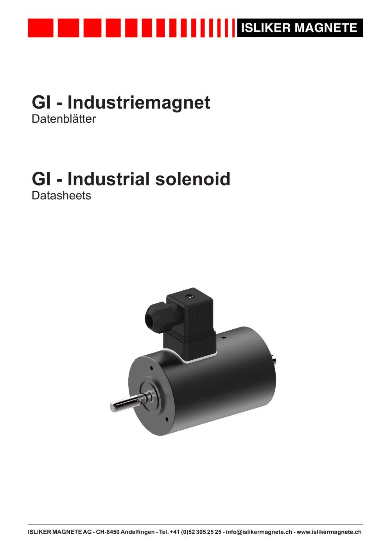 Industrial solenoids - ISLIKER MAGNETE AG - PDF Catalogue ...