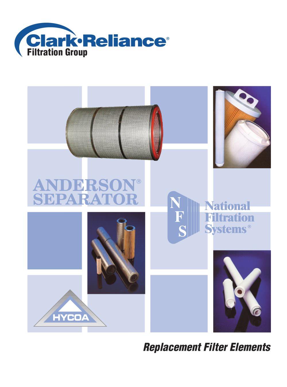 Filtration element brochure - Clark-Reliance - PDF Catalogue ...