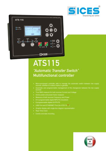 ATS115 - Multifunctional Automatic Transfer Switch controller