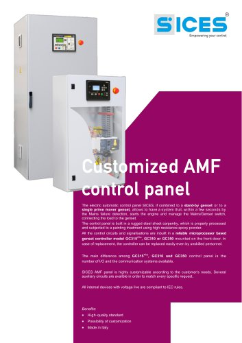 Customized A.M.F. Control Panels