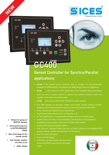 GC400 - Synchro/Parallel genset controller