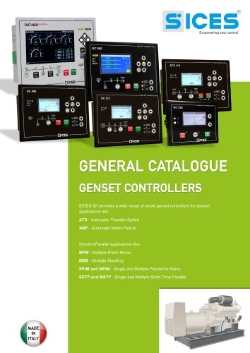 General catalogue SICES Genset controllers