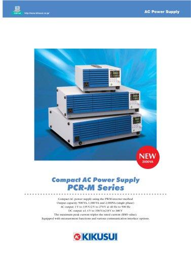 Compact AC Power Supply / PCR-M Series - Kikusui Electronics