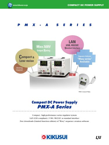 Compact DC Power Supply PMX-A Series - Kikusui Electronics
