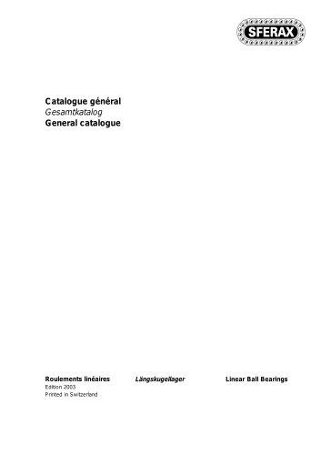 SFERAX Catalogue 2003