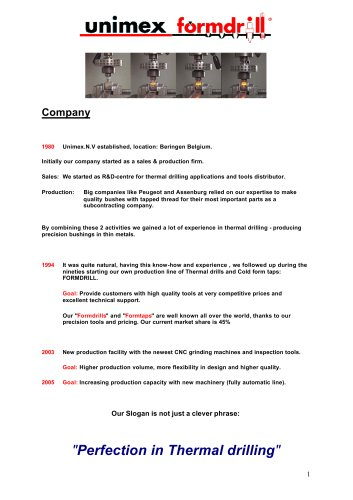 Company Introduction - Formdrill - PDF Catalogs | Technical