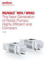 RUVAC WH/WHU The New Generation of Roots Pumps
