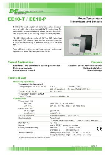 HVAC Room temperature sensor - EE10-T