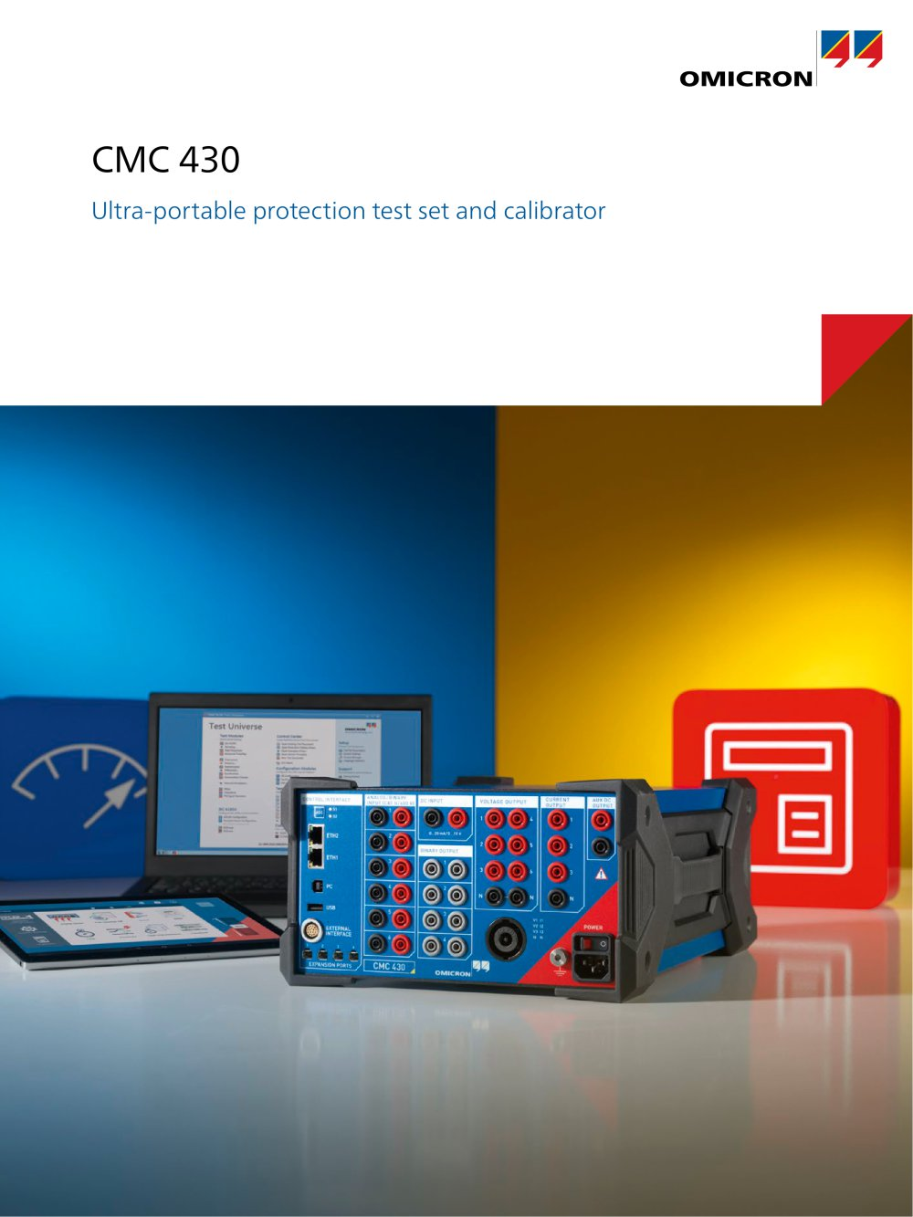 CMC 430 Ultra-portable protection test set and calibrator - 1 / 12 Pages