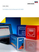 CMC 850 - The Protection Test Set Dedicated to IEC 61850