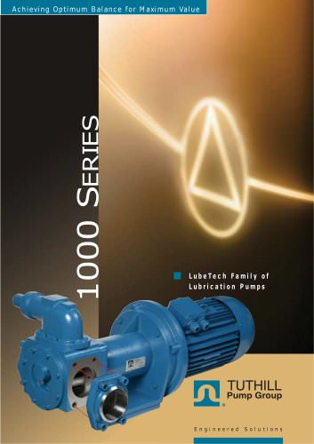 1000 Series Lubrication Pumps - Tuthill - PDF Catalogs