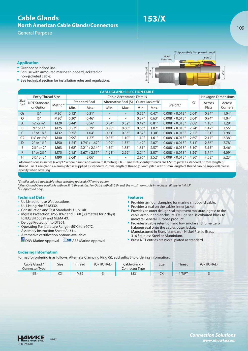 153 Cable glands - Hawke - PDF Catalogue | Technical Documentation ...