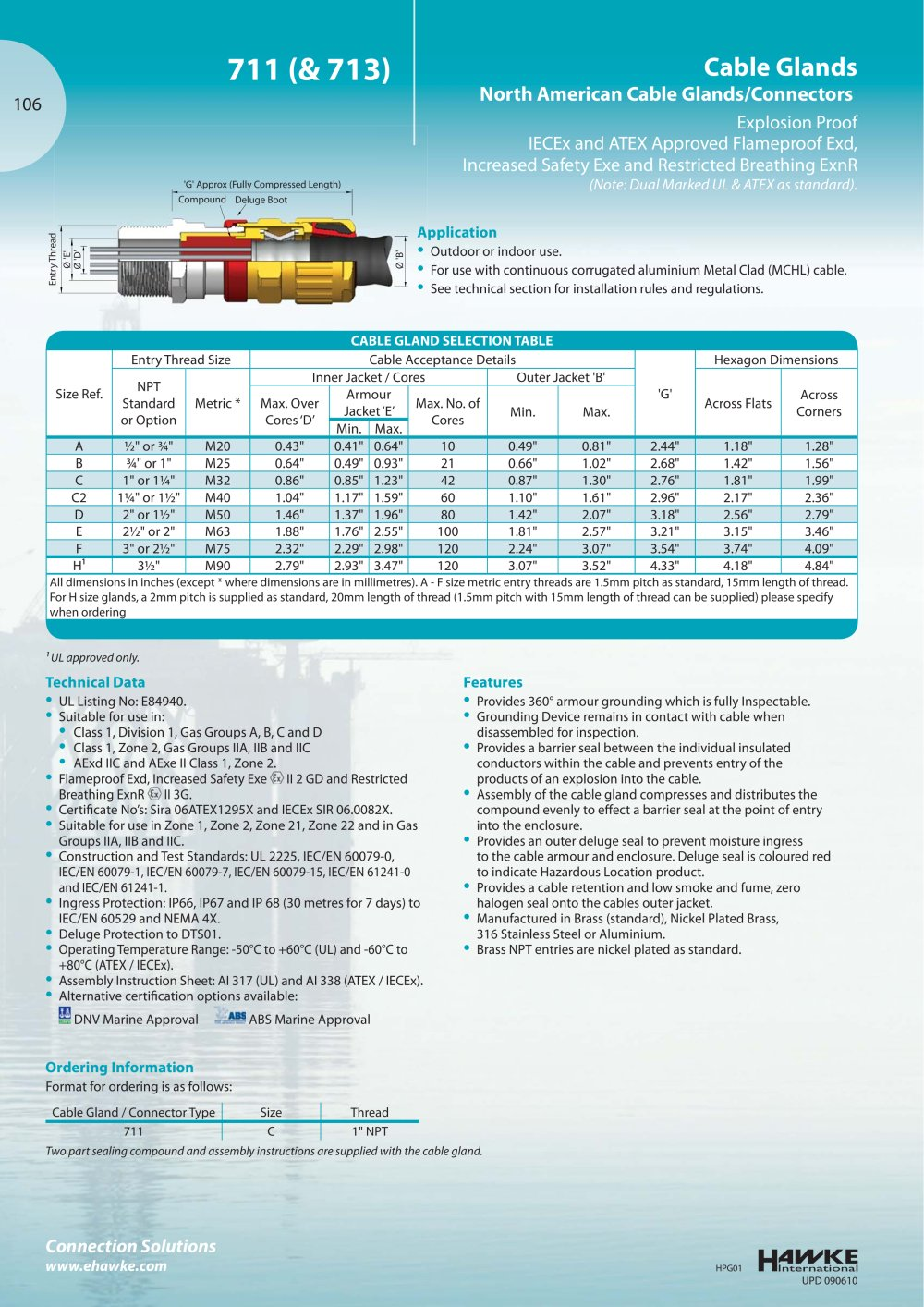 711 Cable glands - Hawke - PDF Catalogue | Technical Documentation ...