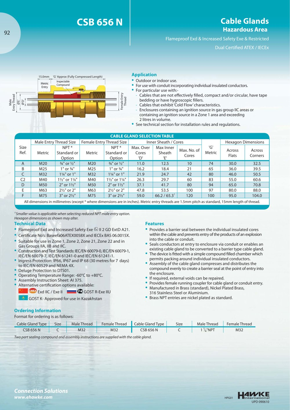 CSB 656 N Cable glands - Hawke - PDF Catalogue | Technical ...