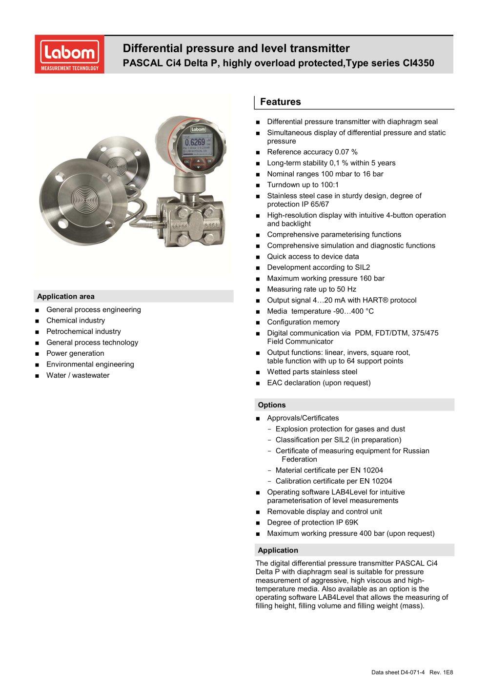 Type Series Ci4350 Labom Mess Und Regeltechnik Gmbh Pdf