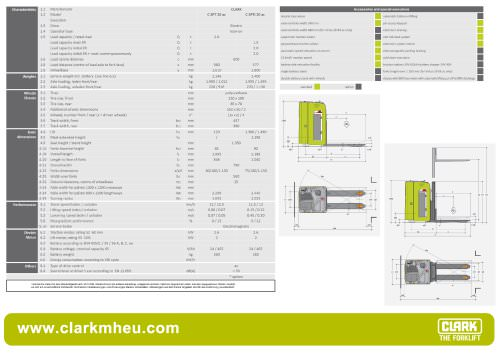Specification sheet CLARK C SPT 20 ac