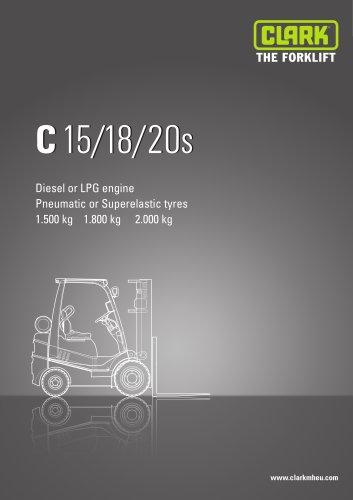 Specification sheet CLARK C15/18/20s