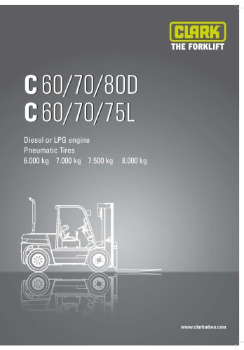 Specification Sheet Clark C60707580 Material Handling. Specification Sheet Clark C60707580. Wiring. Clark Ctx 70 Wiring Diagram At Scoala.co