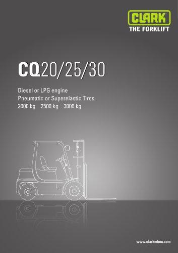 Specification sheet CLARK CQ20/25/30