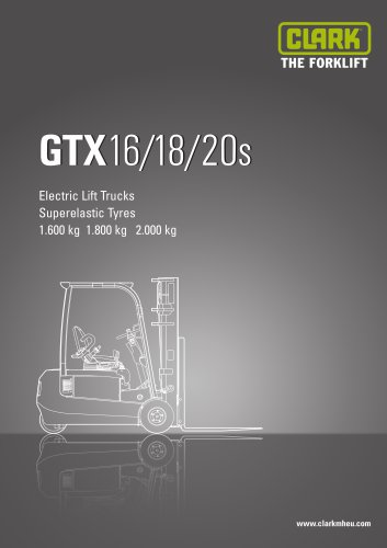Specification sheet CLARK GTX16/18/20s