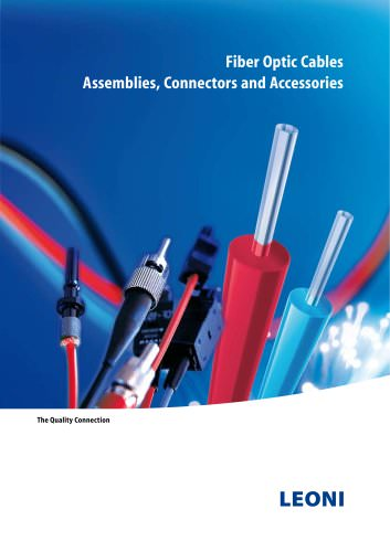 LEONI Fiber Optics,Assemblies, Connectors and Accessories