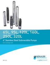 BR65 320L 65L, 95L, 120L, 160L, 250L, 320L 6 Stainless Steel Submersible Pumps For 6? and larger wells