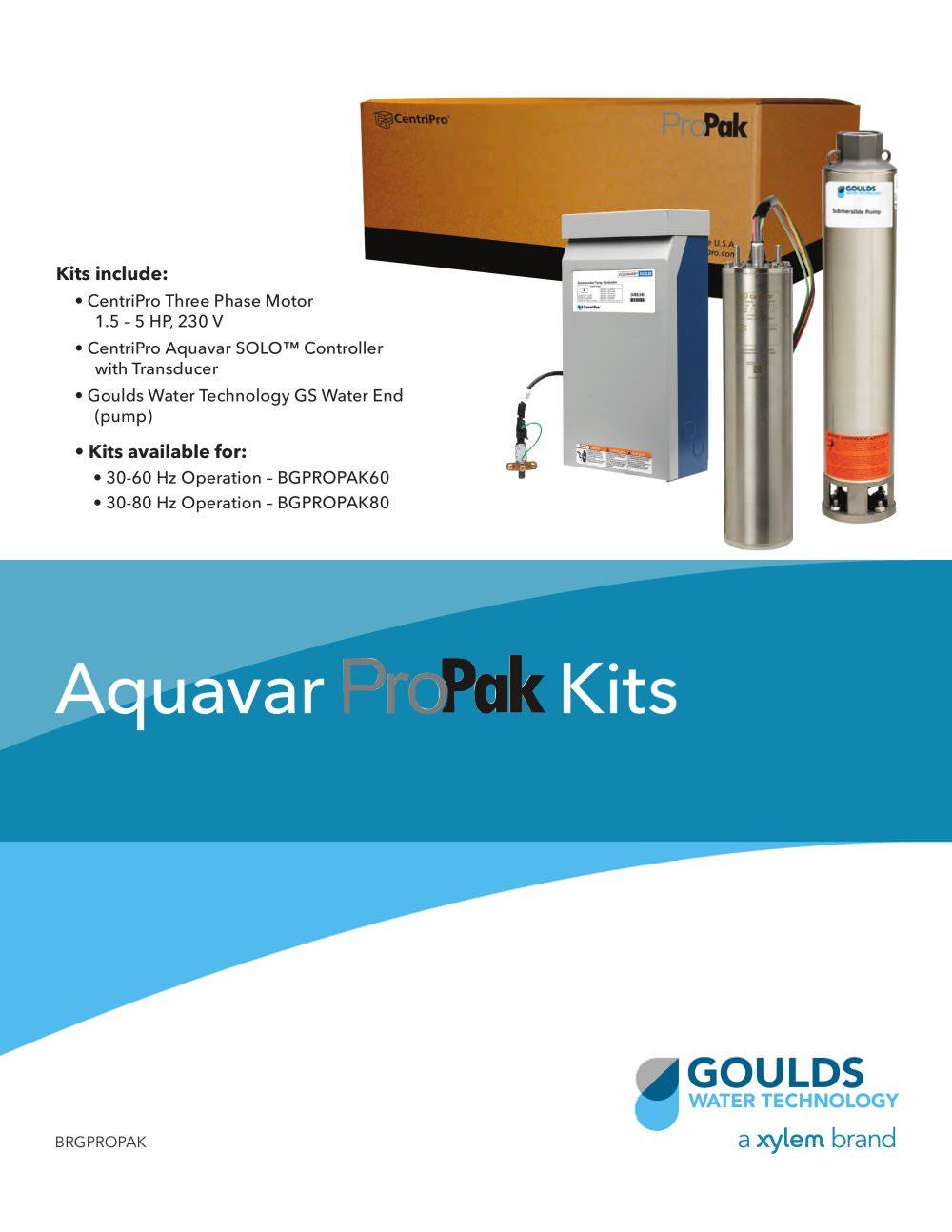 Brgpropak Aquavar Propak Kits Goulds Pumps Pdf Catalogue Centripro Pump Control Wiring Diagram 1 4 Pages