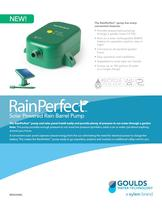 BRRAINBRL RainPerfect Solar Powered Rain Barrel Pump