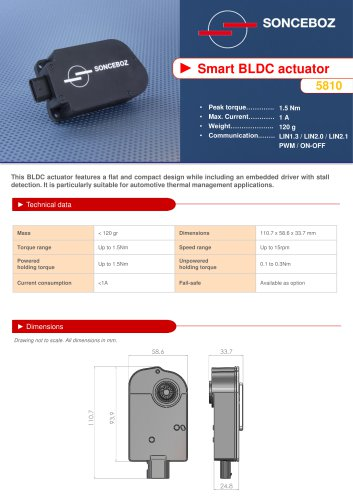 Smart BLDC Actuator 5810 - SONCEBOZ - PDF Catalogs | Technical