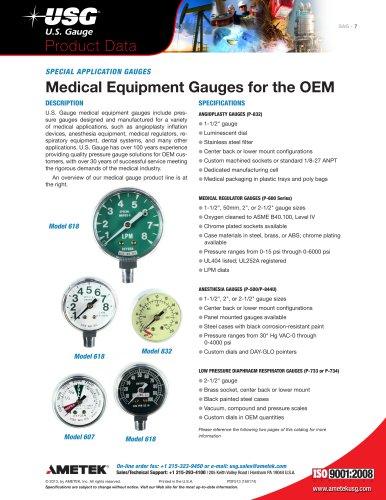 Medical Equipment Gauges for the OEM