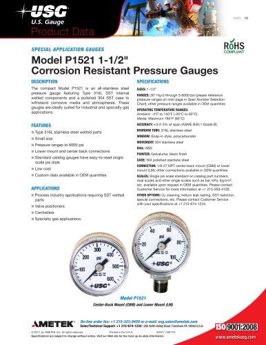 Model P1521 1-1/2