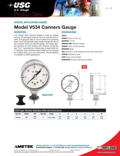 Model V534 Canners Gauge