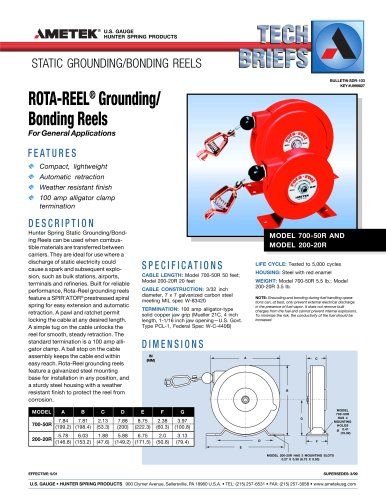 ROTA-REEL Grounding/Bonding Reels
