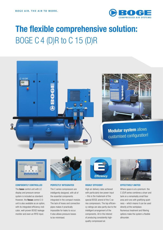 c4 c15 dr boge pdf catalogue technical documentation brochure rh pdf directindustry com Boge Compressors S 271 Boge Compressors USA
