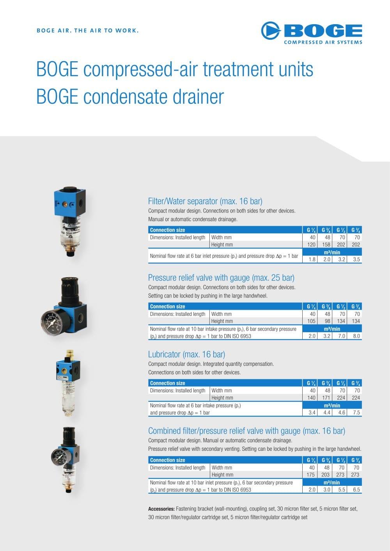 ... manuals co Array - compressed air treatment units condensate drainer  boge pdf rh pdf directindustry com