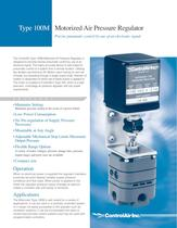 T100M Motorized Precision Air Pressure Regulator