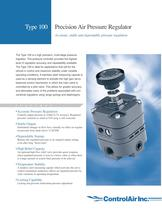 Type 100 Precision Air Pressure Regulator