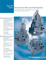 Type 300 Instrument Air Filter Regulator