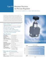Type-90 Miniature Precision Air Pressure Regulator